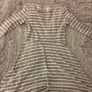 Dresses & Skirts - Size Girls 16 grey Striped Dress
